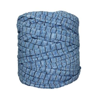 Trapilho-bobine-pelote-rayé-bleu-chiné-noir