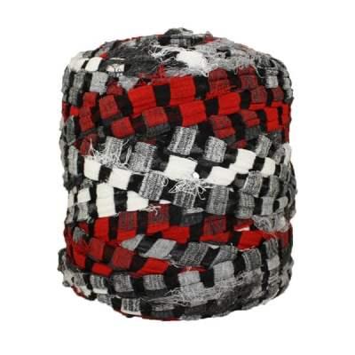 Trapilho-bobine-rayé-rouge-noir-gris