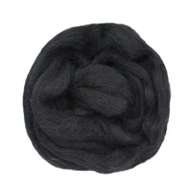 Laine cardée ruban - Noir