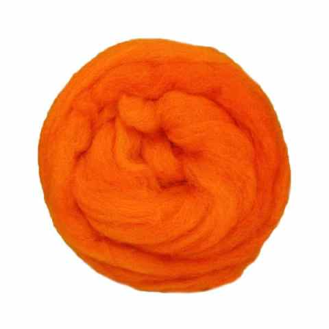 Laine cardée ruban - Mandarine