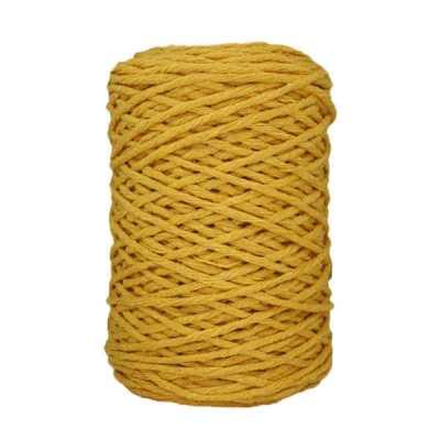Coton bitord (barbante) - 3 mm - Jaune