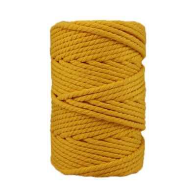 Corde macramé - 4 mm - Jaune