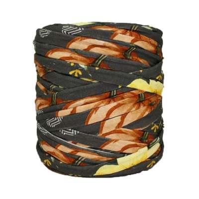 Trapilho-bobine-imprimé-jaune-orange-marron