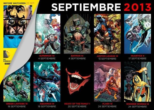 checklist dc comics mexico septiembre 2013