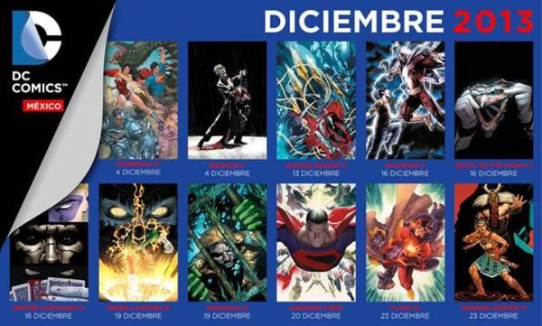 checklist dc comics mexico diciembre 2013