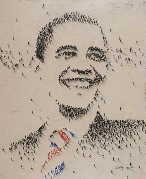 arack Obama Portrait by Craig Alan