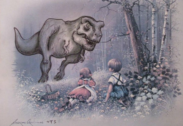 T-rex at picnic