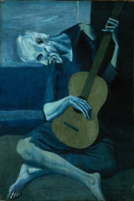 The Old Guitarist Painting