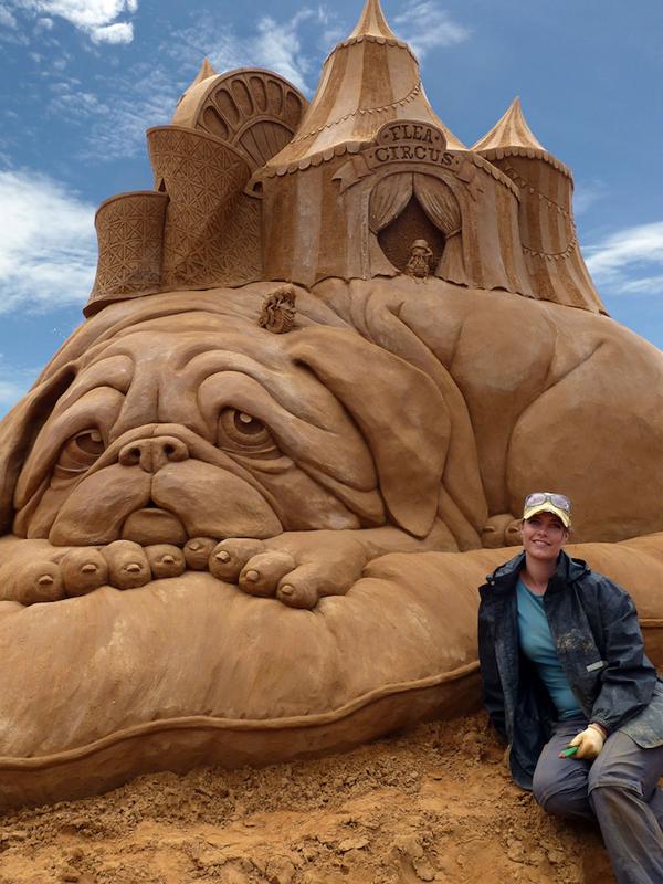 Flea Circus Sand Sculpture