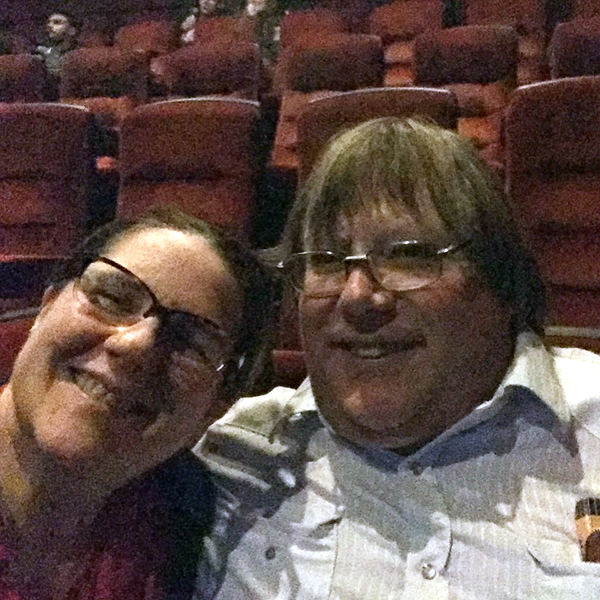 Laurie and Mark at the movies