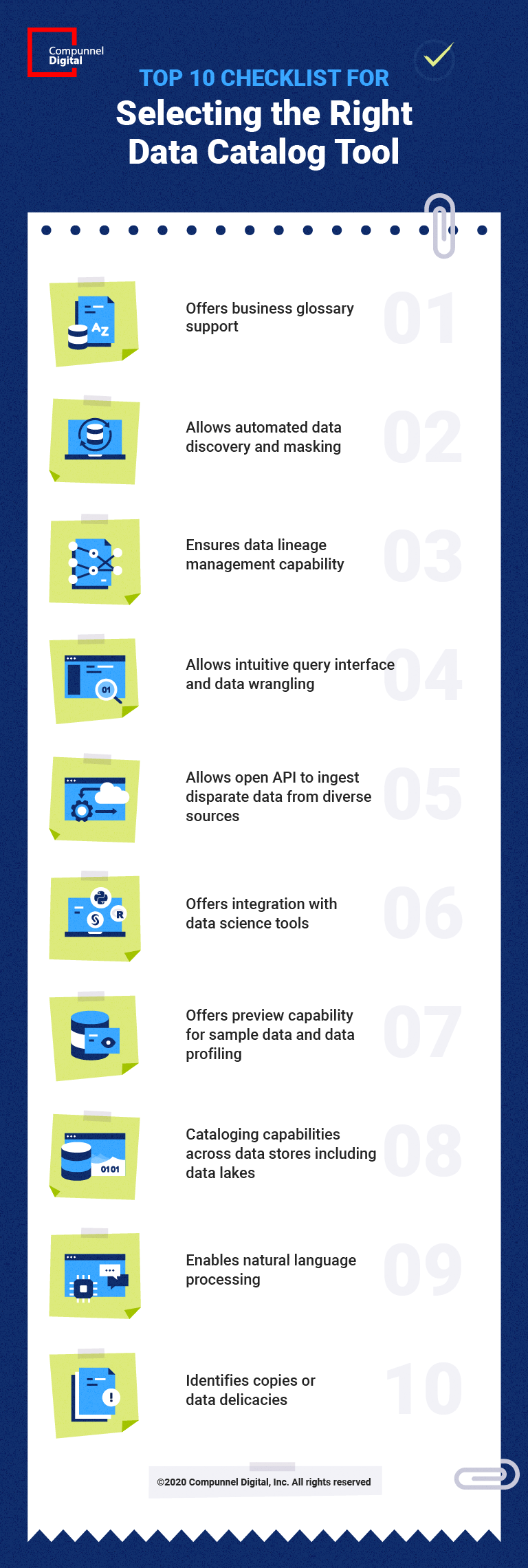 Top 10 Checklist for Selecting the Right Data Catalog Tool