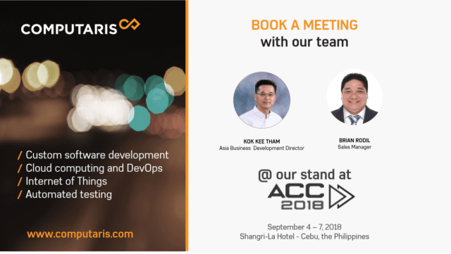 Book a meeting with Computaris team at ACC2018, Cebu, the Philippines