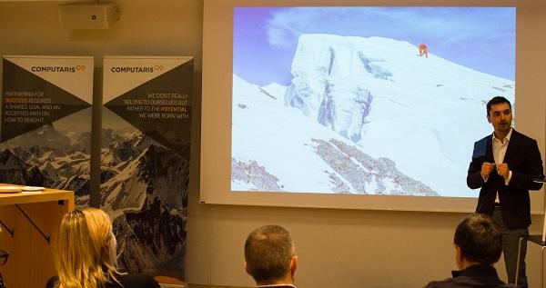 alex gavan speaking at computaris event in switzerland