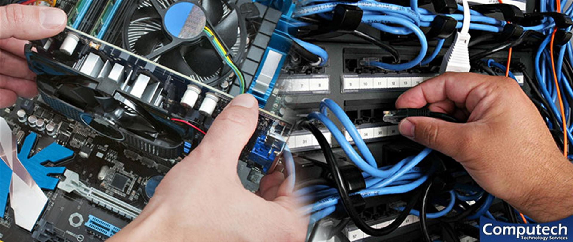 Lawrenceville Georgia On Site PC & Printer Repair, Network, Voice & Data Cabling Contractors