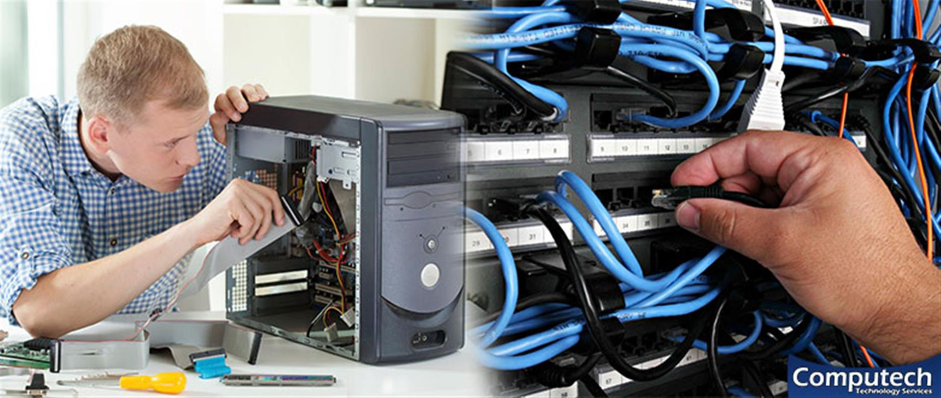 Hampton Virginia On Site PC & Printer Repairs, Network, Voice & Data Cabling Contractors