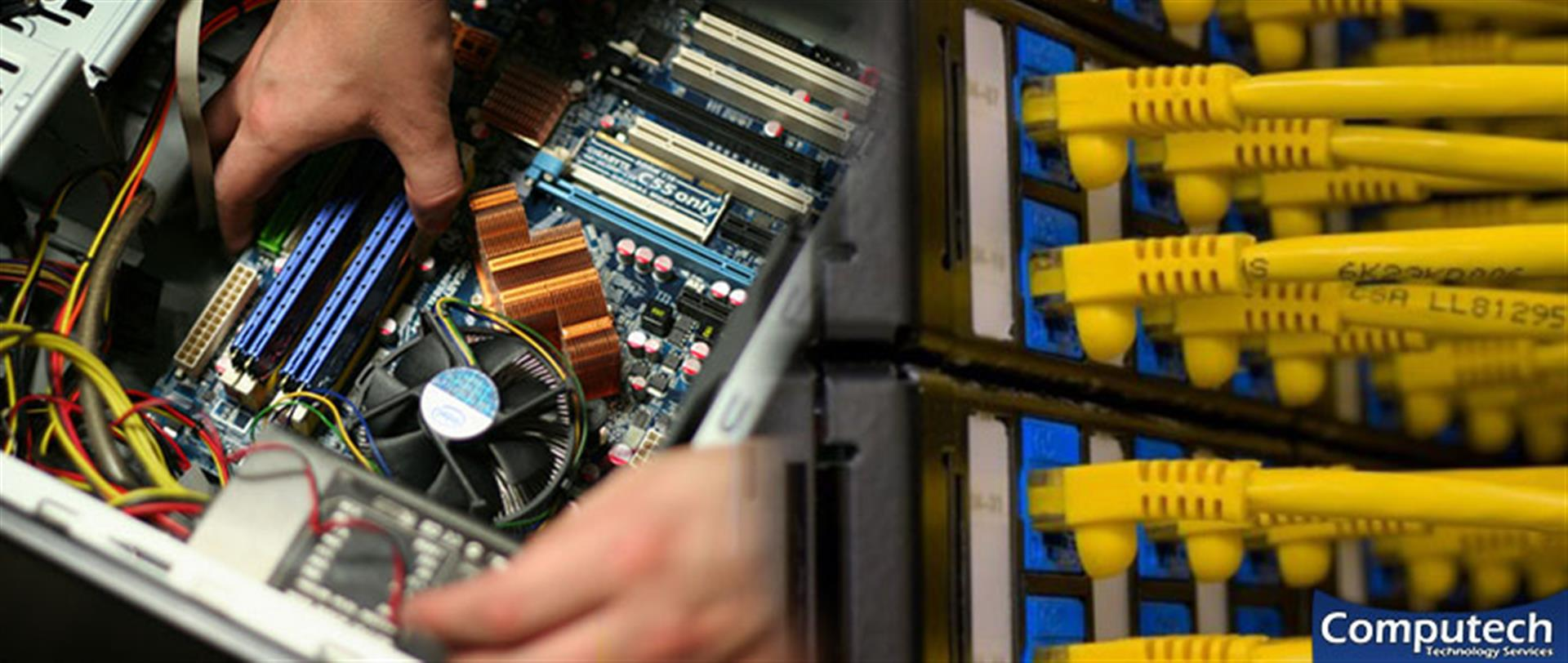 Christiansburg Virginia Onsite Computer PC & Printer Repair, Networking, Voice & Data Cabling Contractors