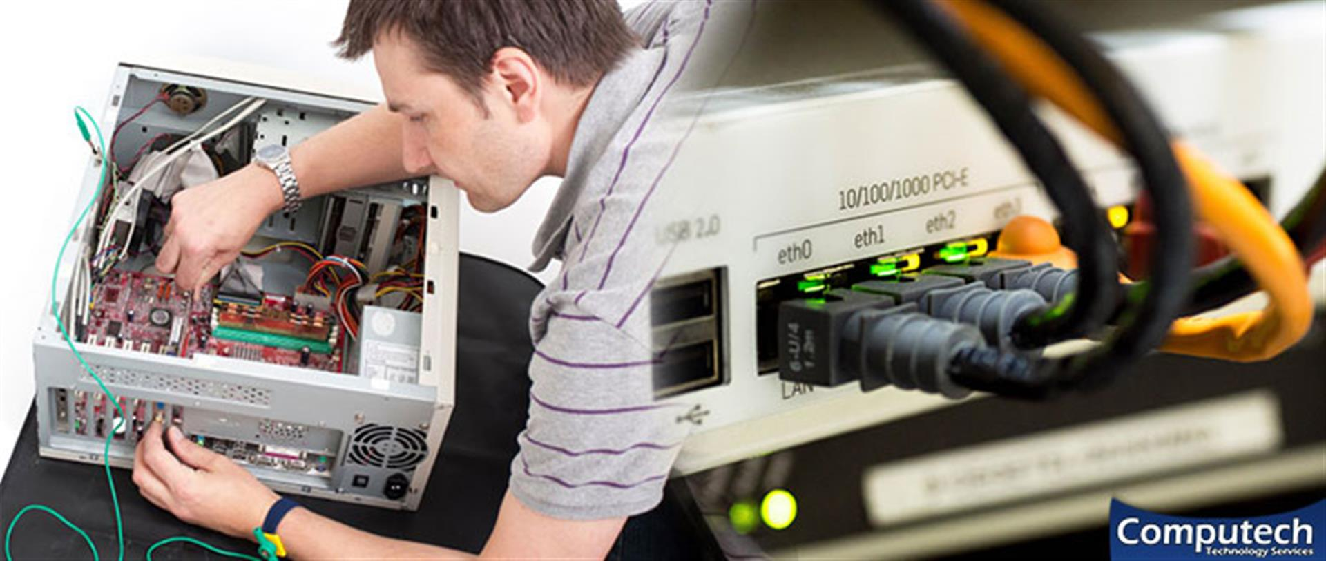 Blacksburg Virginia Onsite PC & Printer Repair, Networking, Voice & Data Cabling Services