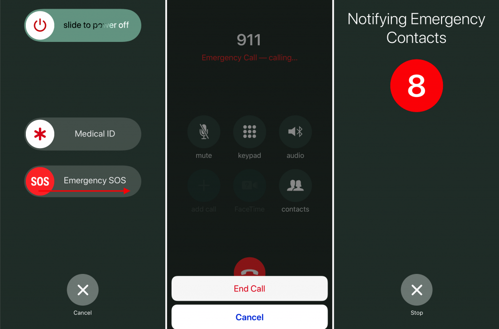 Call 911! Or, with an iPhone or Apple Watch, Invoke Emergency SOS.