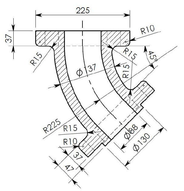 2d Mechanical Part Drawing