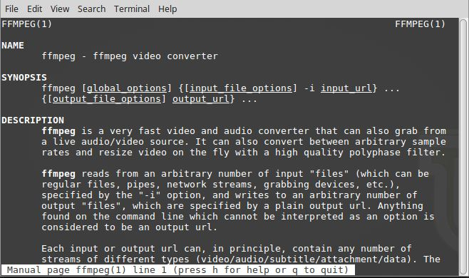 Convert Audio & Video With ffmpeg In Linux Mint 18 2