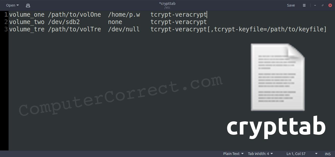Auto-mounting a VeraCrypt volume under Ubuntu / Debian Linux