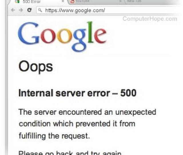 500 Error User Troubleshooting