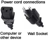 Power cord connections