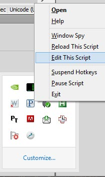 Edit Autohotkey script