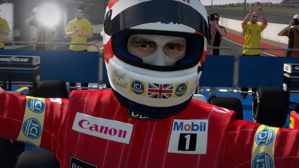 Nigel Mansell, Birmingham's finest (yes, I know he wasn't actually born in Birmingham, you can shut up now)