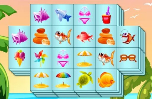 Summer Mahjong - kostenlos bei Computerspiele.at spielen!