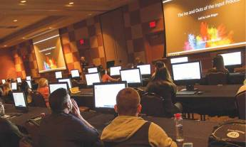 "Attendees learn the ""Ins and Outs of the Input Process"" during one of 23 lab sessions."