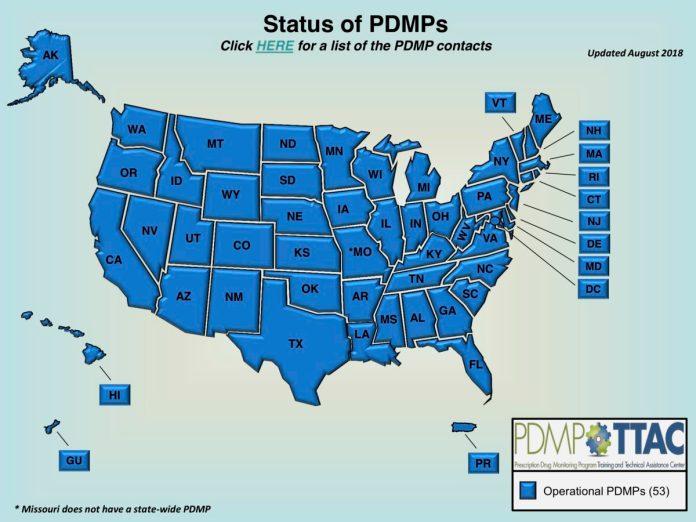 PDMP Program Status 2018