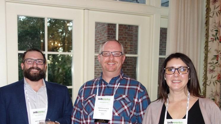 From left, IQVIA's AJ Lipka, Daniel Colfer, and Miranda Rochol.