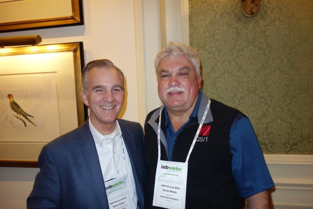 PerceptiMed's Terry Cater, left, with Smith Technologies' Kevin Welch.