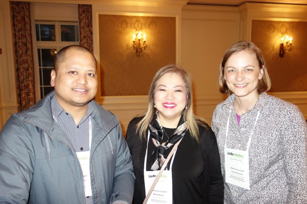 From left, Jeffrey Pinaula program coordinator and Remy Suva, administrative officer, Guam Department of Public Health and Social Services, with the National Community Pharmacists Associations' Lisa Schwartz.