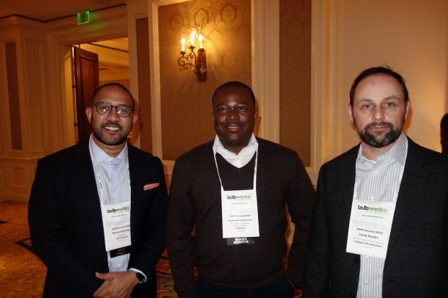 From left, VUCA Health's Richard Waithe, Rite Aid's Jermaine Smith, and Integra LTC Solutions' Louie Foster.