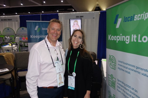 National Community Pharmacists Association 2019 Conference and Trade Show Exhibits Jim Blachek and Rebecca Wagers from LocalScript.