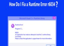 fix-runtime-error-r6034