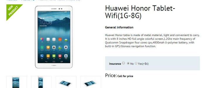 Buy Huawei Honor Tablet from Flosmall.com at Discount