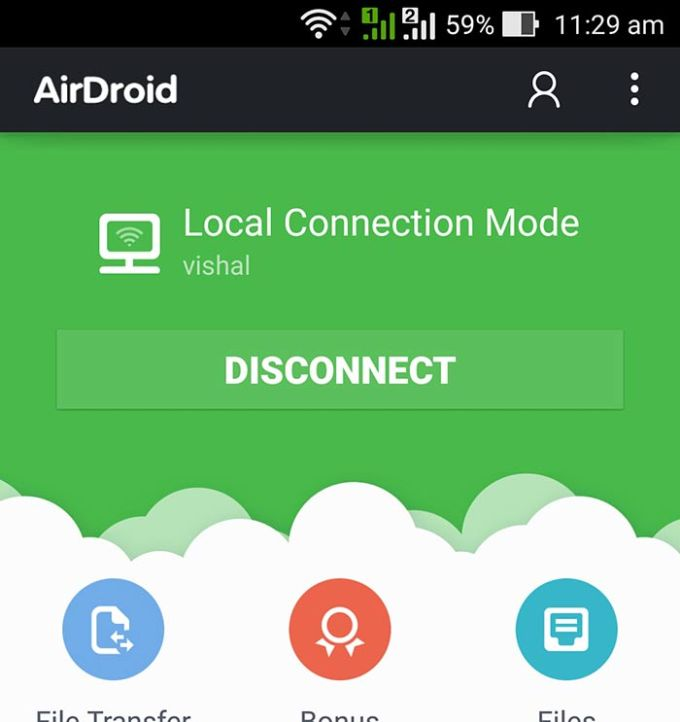 AirDroid Connected