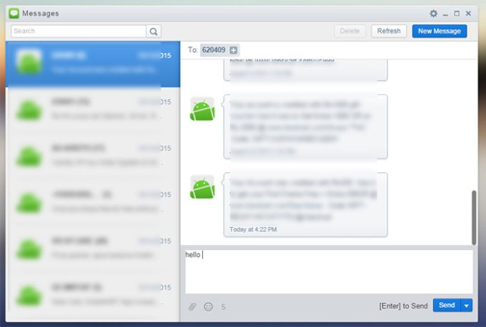 massages in airdroid