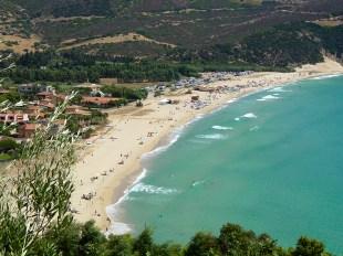 La spiaggia di Solanas, vista da ovest