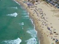 La spiaggia di Solanas, vista da est