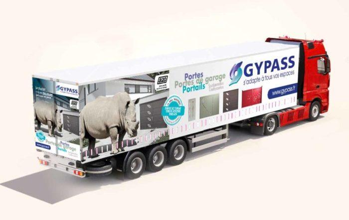Mockup signalétique camion Gypass
