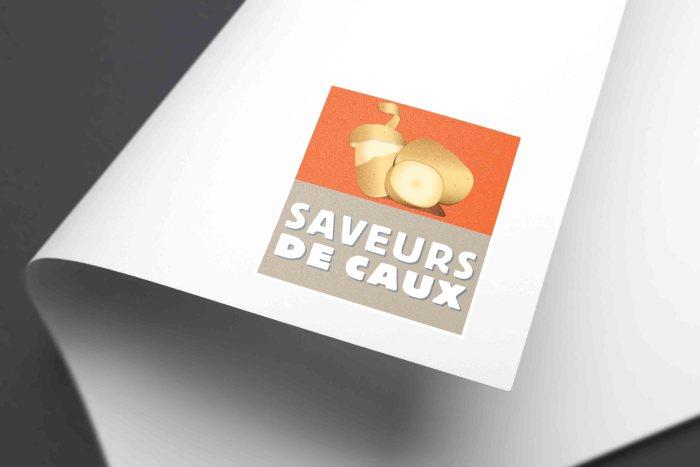 Mockup logo Saveurs de Caux