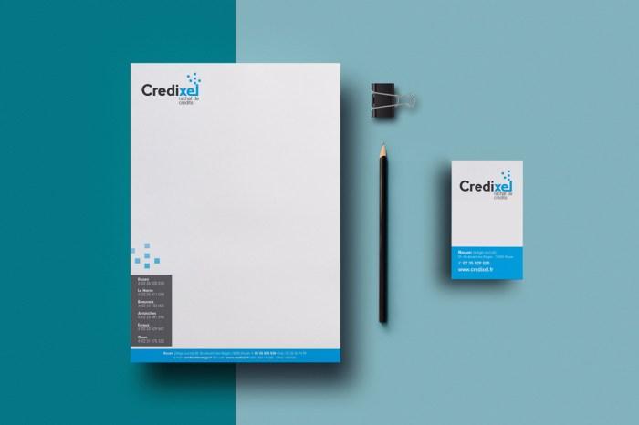 Papier à entête et carte de visite Credixel