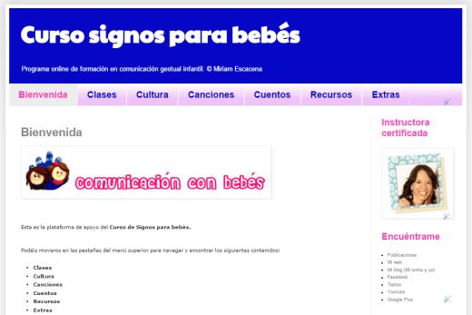 Curso online signos para bebés Miriam Escacena