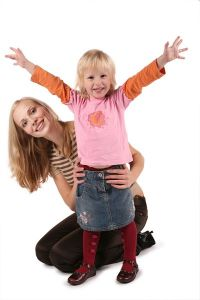 Au Pair girl with the child