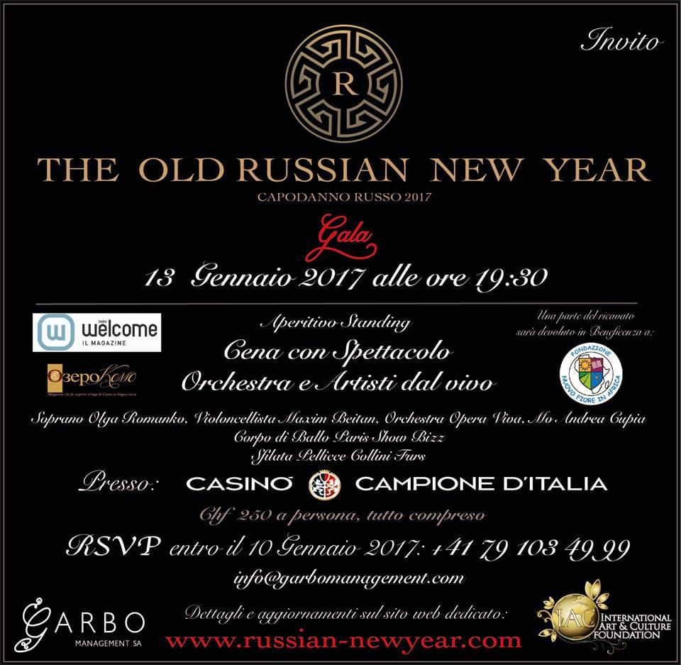 Arriva il Capodanno Russo: il 13 gennaio i festeggiamenti a Campione d'Italia