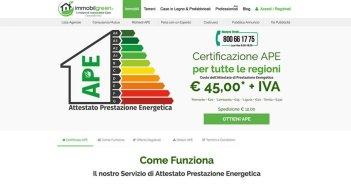 Attestato Prestazione Energetica APE su Immobilgreen.it